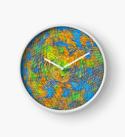 Cat. Every day is Earth Day. Clock