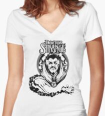 doctor strange Women's Fitted V-Neck T-Shirt