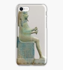 Ancient Egyptian Inlay depicting the God Shepshi iPhone Case/Skin