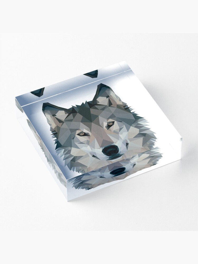 Alternate view of Wolf Acrylic Block