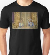 Myanmar. Mandalay. Royal Palace. The King and the Queen. Unisex T-Shirt