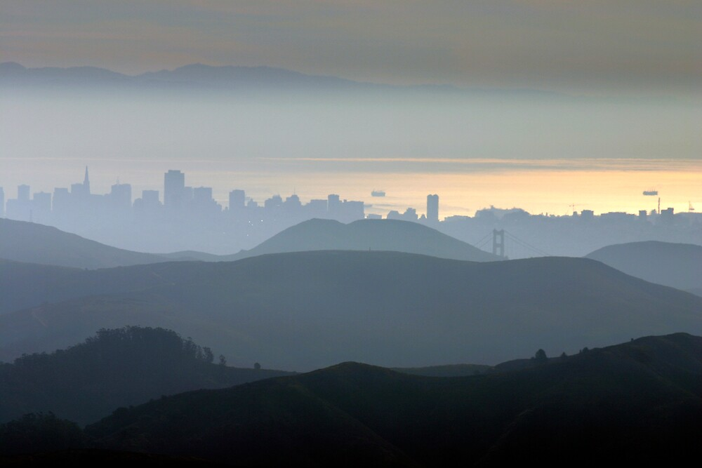 San Francisco Skyline by rozziesbabe