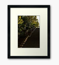 Joyful Blue and Yellow Cascade - Montjuic Park, Barcelona, Spain Framed Print