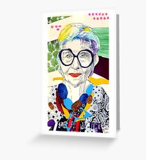 Iris Apfel fanart Greeting Card