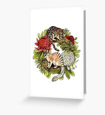 Australian Christmas Wreath Greeting Card