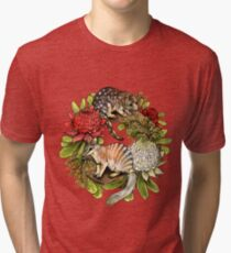 Australian Christmas Wreath Tri-blend T-Shirt