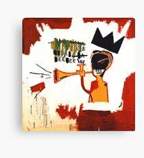 Basquiat Trompette Canvas Print
