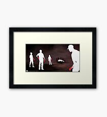 Blood On Our Hands Framed Print