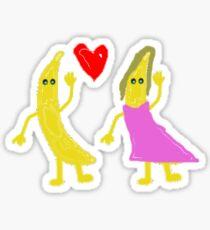 banana couple Sticker
