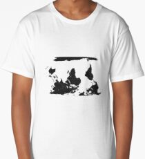 Upside down world map - Think Different Long T-Shirt