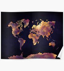 Weltkarte 64 Poster