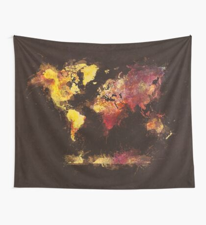 world map 63 Wall Tapestry