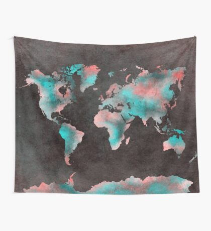 world map 61 Wall Tapestry
