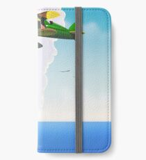 Lake Michigan flight travel poster iPhone Wallet/Case/Skin