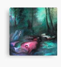 Decivilization I (car graveyard) Canvas Print