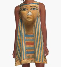 Ancient Egyptian Bust of a Pharaoh A-Line Dress