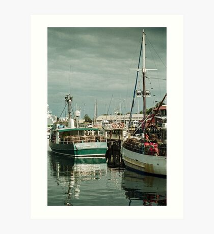 Autumn 2017 Victoria Dock Art Print