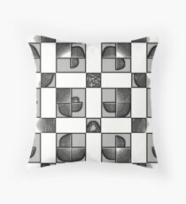 Black and white geometric print Throw Pillow