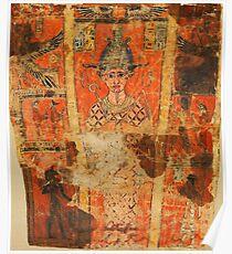 Ancient Egyptian Fabric Shroud design Poster