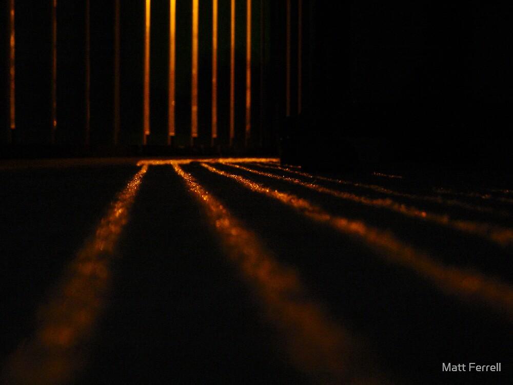 Light through the blinds by Matt Ferrell