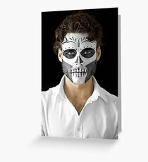 Richard Madden Dia de Los Muertos Day of the Dead MakeUp  Greeting Card
