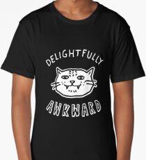 Delightfully Awkward - Cute & Quirky Kitty Cat Long T-Shirt