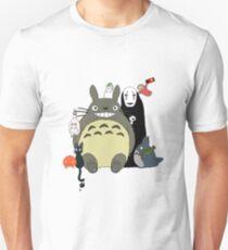 Studio Ghibli: Totoro, Jiji, Calcifer, Forest Spirit, Ponyo, Rat, Fly, Soot Sprite (customisable) Unisex T-Shirt