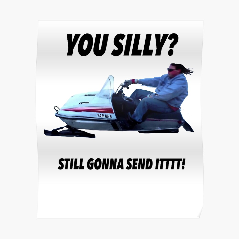 You silly still gonna send it funny meme shirt Poster