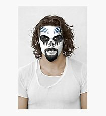Jason Momoa Day of the Dead Dia de los Muertos Makeup Photographic Print
