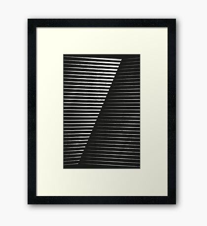 Black vs. White Framed Print