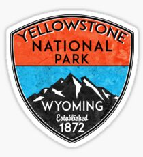 YELLOWSTONE NATIONAL PARK WYOMING HIKING  HIKER HIKE MOUNTAINS NATURE Sticker