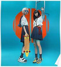 skate girls in japan Poster