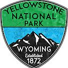 YELLOWSTONE NATIONAL PARK WYOMING HIKING  HIKER HIKE MOUNTAINS NATURE 2 by MyHandmadeSigns