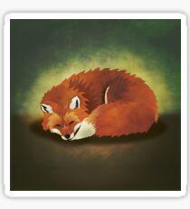 When Foxes Dream Sticker
