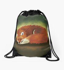When Foxes Dream Drawstring Bag