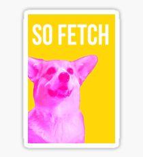 So Fetch Corgi Dog Sticker