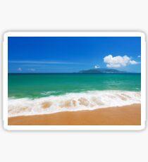 Clear blue sky over emerald South China Sea Sticker