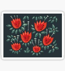 Beautiful Red Abstract Tulip Pattern Sticker
