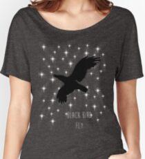 Black Bird Fly ~ Simplistic Design Women's Relaxed Fit T-Shirt