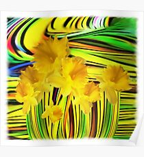 Daffodils Gone Wild Poster