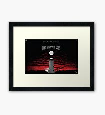 White Stripes Under Nova-Scotain Lights Wide Framed Print