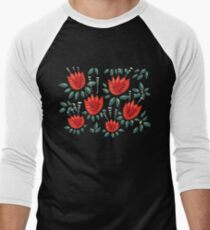 Beautiful Red Abstract Tulip Pattern T-Shirt