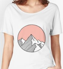 Mountains Sketch Women's Relaxed Fit T-Shirt