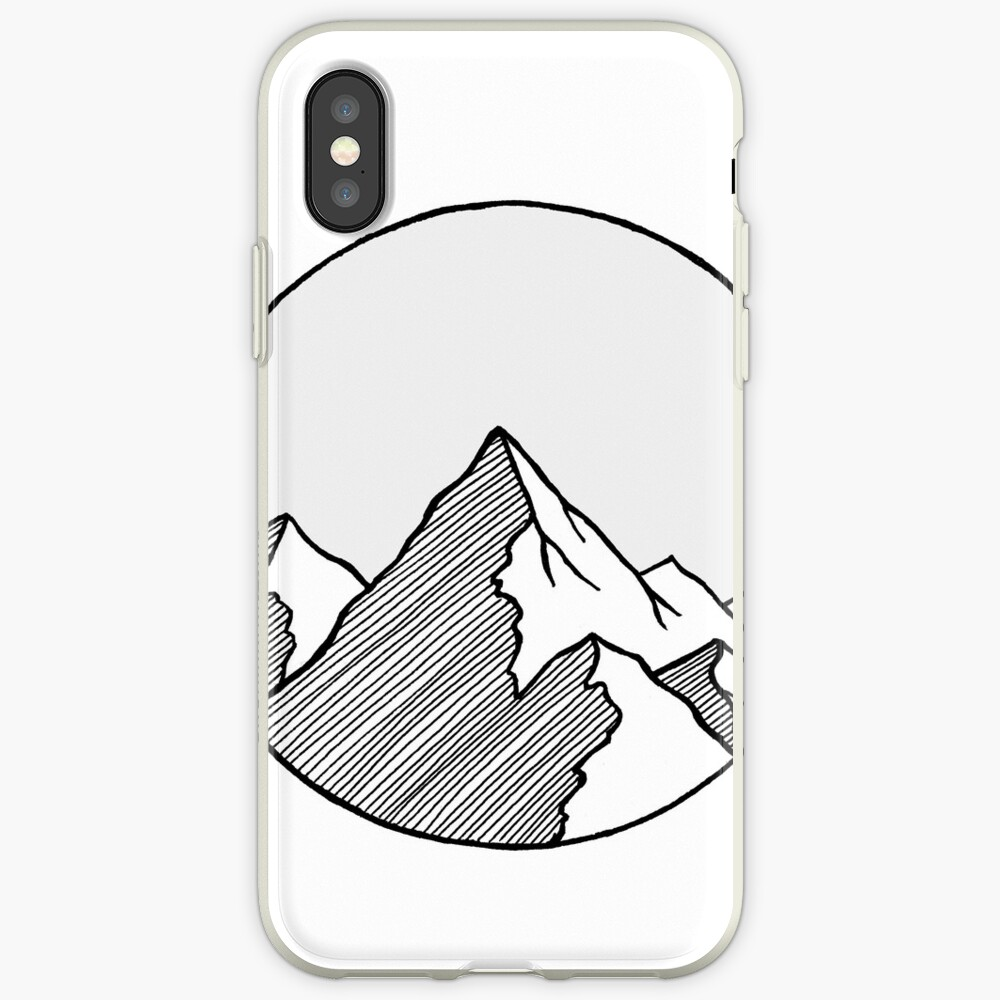 Mountains Sketch iPhone Cases & Covers