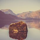 Rock on Ullswater by Nicola  Pearson