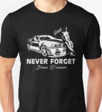 Fast 8 - Never Forget Paul Walker Slim Fit T-Shirt