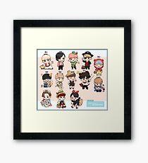 Seventeen Character Chibi Framed Print