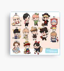 Seventeen Character Chibi Canvas Print