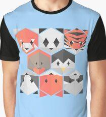 Minimalist animals (blue) Graphic T-Shirt