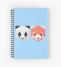 Panda Red Panda (blue) Spiral Notebook